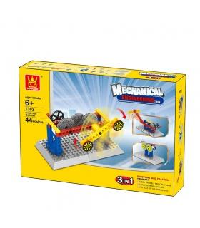 WANGE Mechanical Engineering Shooting Machine 1303 Building Blocks Educational Learning