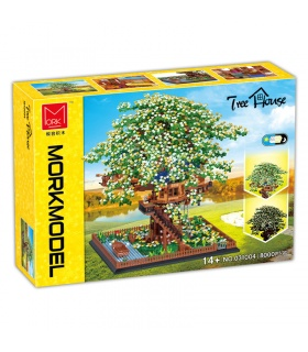 MORK 031004 Tree House Creative Series Model Building Bricks Toy Set
