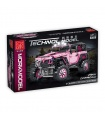 MORK 022010-1 Pink Off-Road Vehicle Building Bricks Toy Set