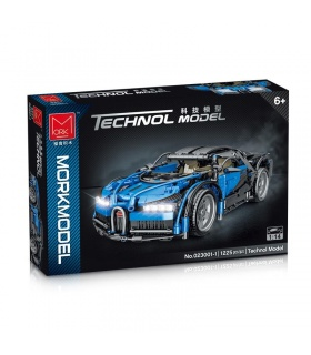 MORK 023001-1 Technology Blue Super Car 1:14 Model Building Bricks Toy Set