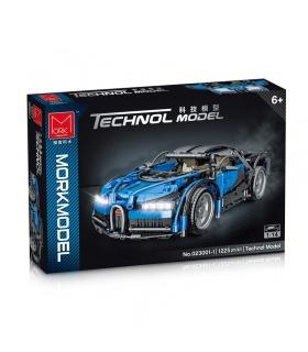 MORK 023001-1 Technology Super Car Blue Bugatti Model Building Bricks Toy Set