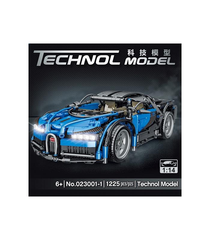 MORK 023001-1 Technology Blue Super Car 1:14 Model Building Bricks Toy Set