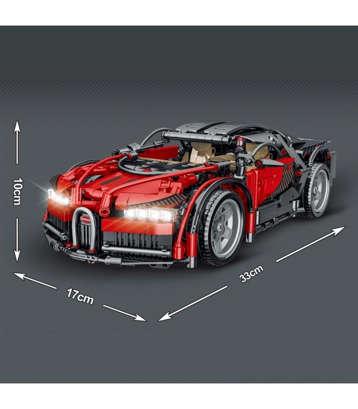 MORK 023001-2 Technology Red Super Car 1:14 Model Building Bricks Toy Set