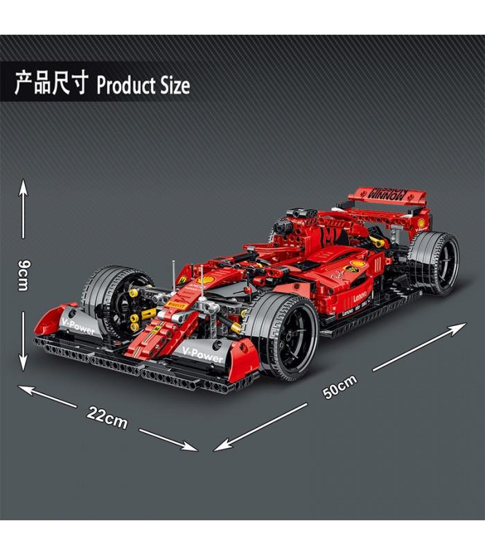 MORK 023005 Red F1 SF90 Super Racing Car Model Building Bricks Toy Set