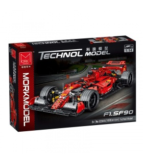 MORK 023005 Red F1 SF90 Super Racing Car Model Building Bricks Toy Set