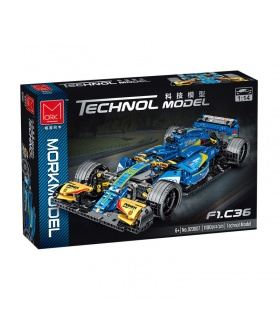 MORK 023007 Blue F1 C36 Super Racing Car Model Building Bricks Toy Set