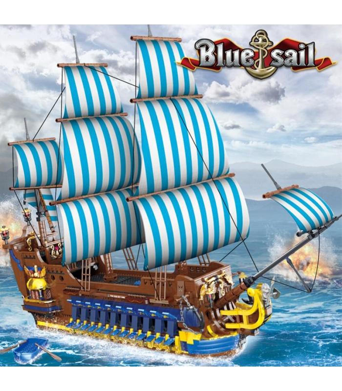 Морк 031011 Голубой парус пиратский корабль модель строительные кирпичи игрушка набор