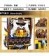 MORK 031011 Azul de Vela de Barco Pirata, Modelo de Construcción de Ladrillos Conjunto de Juguete