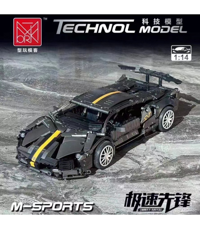 MORK 023015 Lamborghini Murcielago M-Sports Model Building Bricks Toy Set