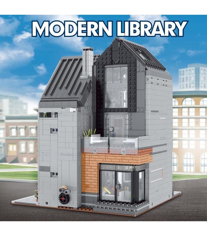 MORK 011001 Modern Library Model Building Bricks Toy Set