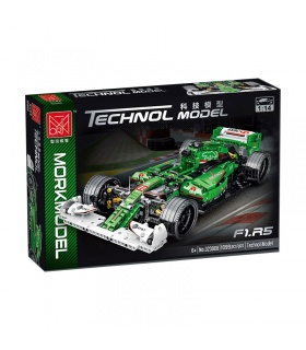 MORK 023008 Green Jaguar R5 Sports Car Model Building Bricks Toy Set