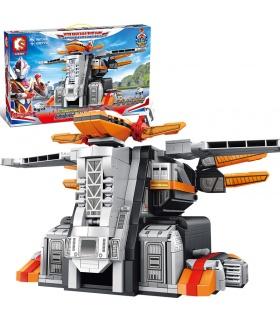 SEMBO 108776 Space Hero Ultraman Series Phoenix Nest Building Blocks Toy Set