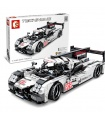 SEMBO 701652 Techinque Series White Formula 919 Sports Car Building Blocks Toy Set