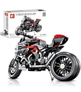 SEMBO 701703 Techinque Series Dueati Motorrad-Bausteine-Spielzeug-Set