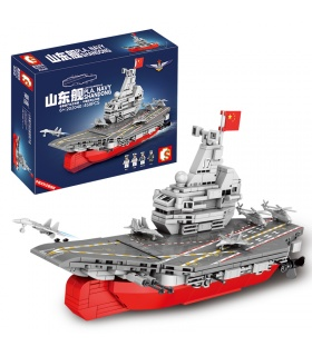 SEMBO 202040 Military Series Small Size Shandong Ship Building Blocks Toy Set