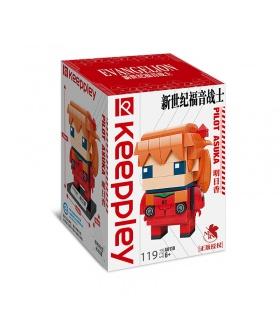 Keeppley Evangelion A0118 Pilot Asuka Building Blocks Набор игрушек