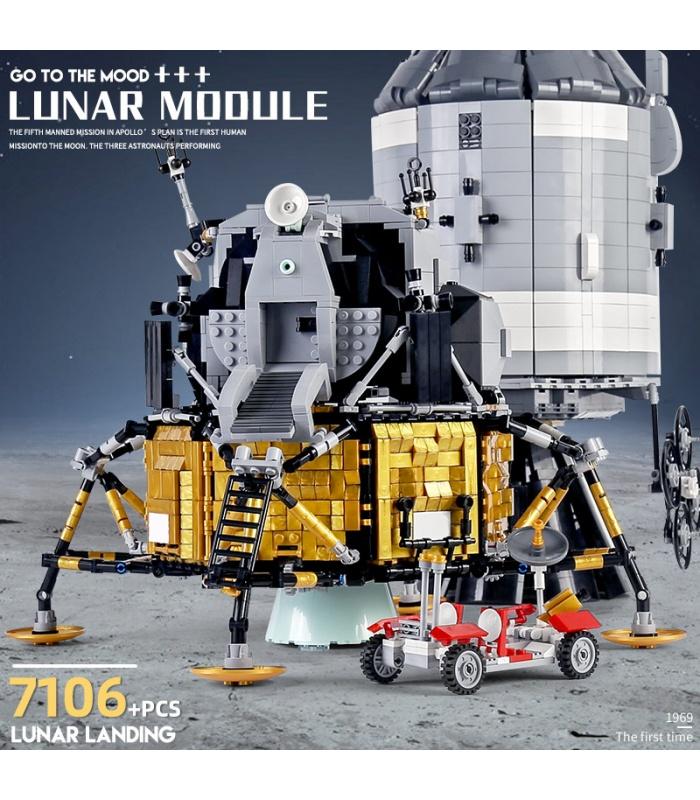 MOULD KING 21006 Apollo 11 Spacecraft Lunar Module Building Blocks Toy Set