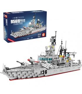SEMBO 202060 Military Series Typ 956 Modernes Zerstörer-Baustein-Spielzeugset