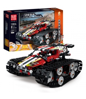 MOLD KING 13024 Raupenauto Rot Bausteine-Spielzeug-Set