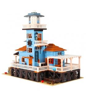 PANGU PG12002 Lighthouse Fishing House Building Bricks Toy Set