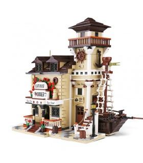 PANGU PG122003 Bootshaus Bausteine-Spielzeug-Set