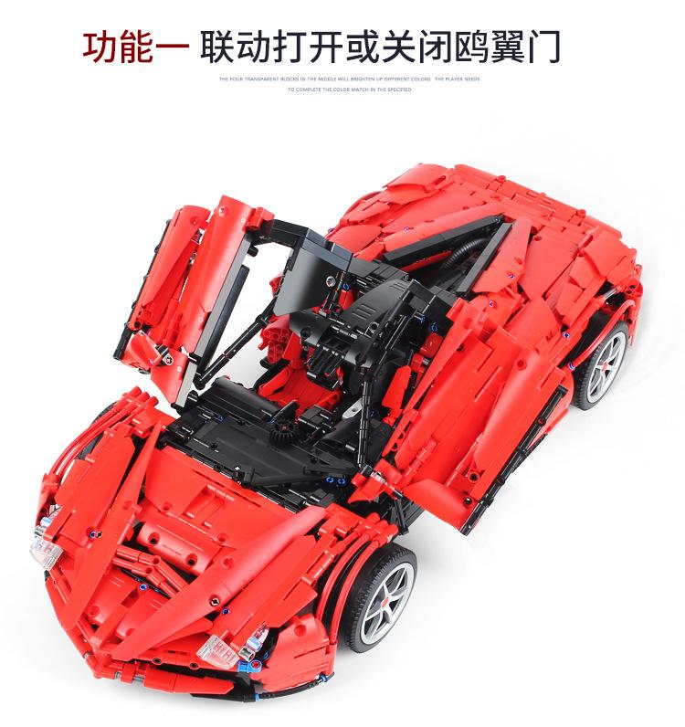 Custom LaFerrari F150 MOC Building Bricks Toy Set 3260 Pieces