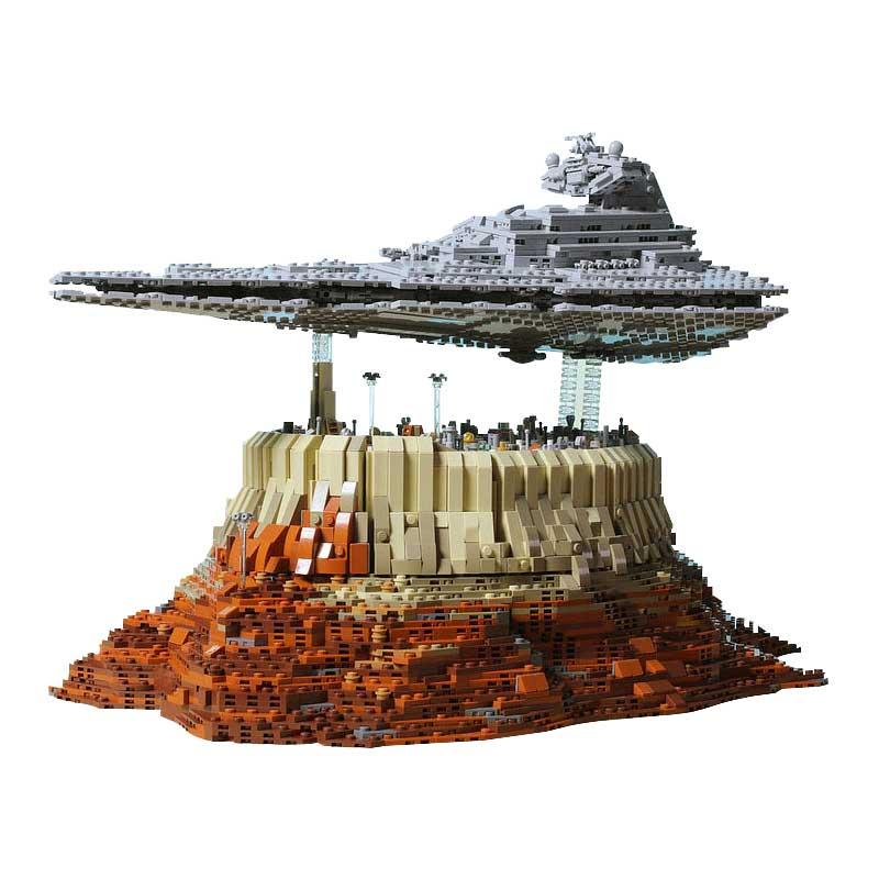 Custom Star Destroyer Empire Over Jedha City Star Wars Building Bricks Toy Set 5098 Pieces