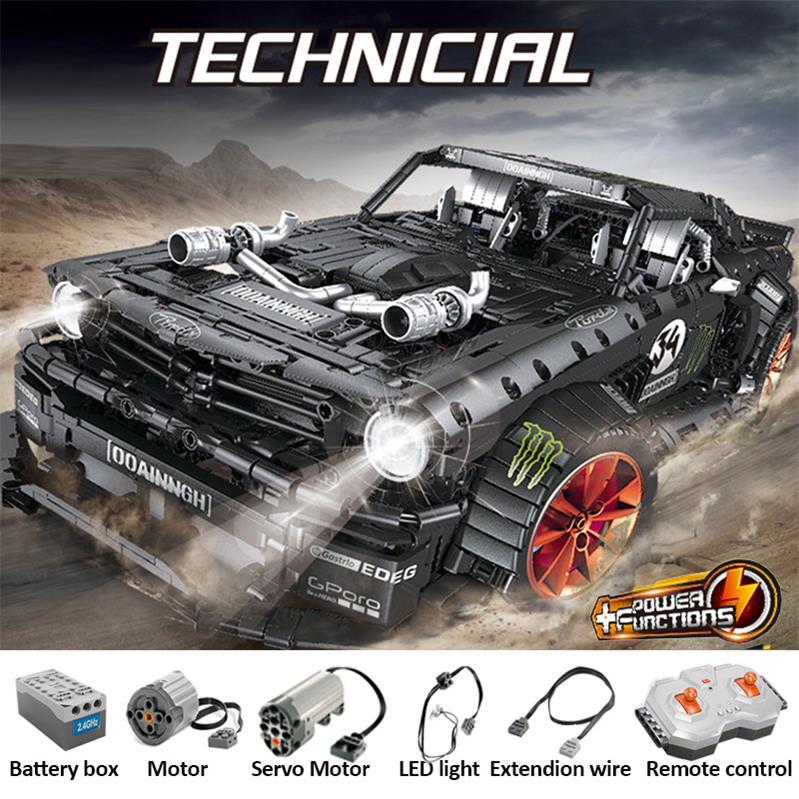 Custom Technic Ford Mustang Hoonicorn Building Bricks Toy Set 3168 Pieces