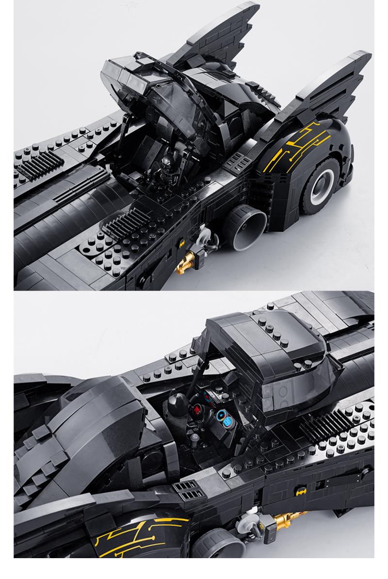 Custom The Ultimate Batmobile Building Bricks Toy Set 1788 Pieces