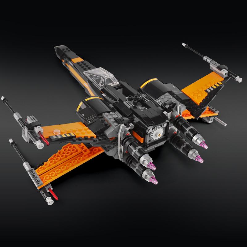CUSTOM 05004 Poe's X-wing Fighter Building Bricks Set