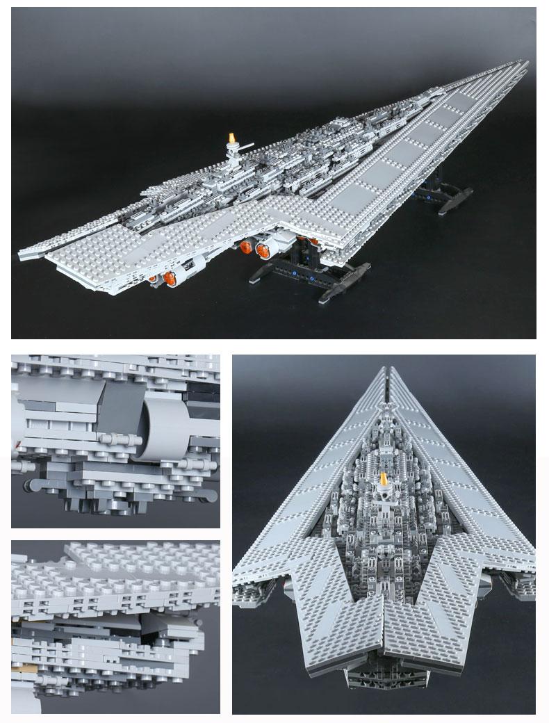 CUSTOM 05028 Building Blocks Star Wars Super Star Destroyer Building Brick Sets