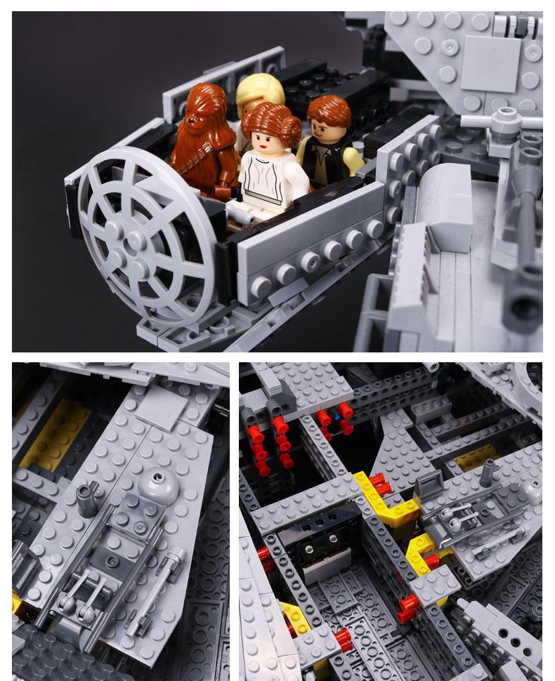 CUSTOM 05033 Building Blocks Star Wars Ultimate Collector's Millennium Falcon Building Brick Sets