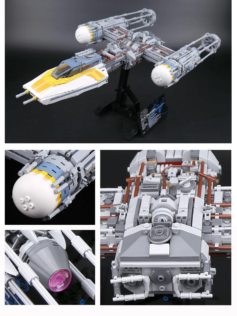 CUSTOM 05143 Star Wars Y-Wing Starfighter Building Bricks Set