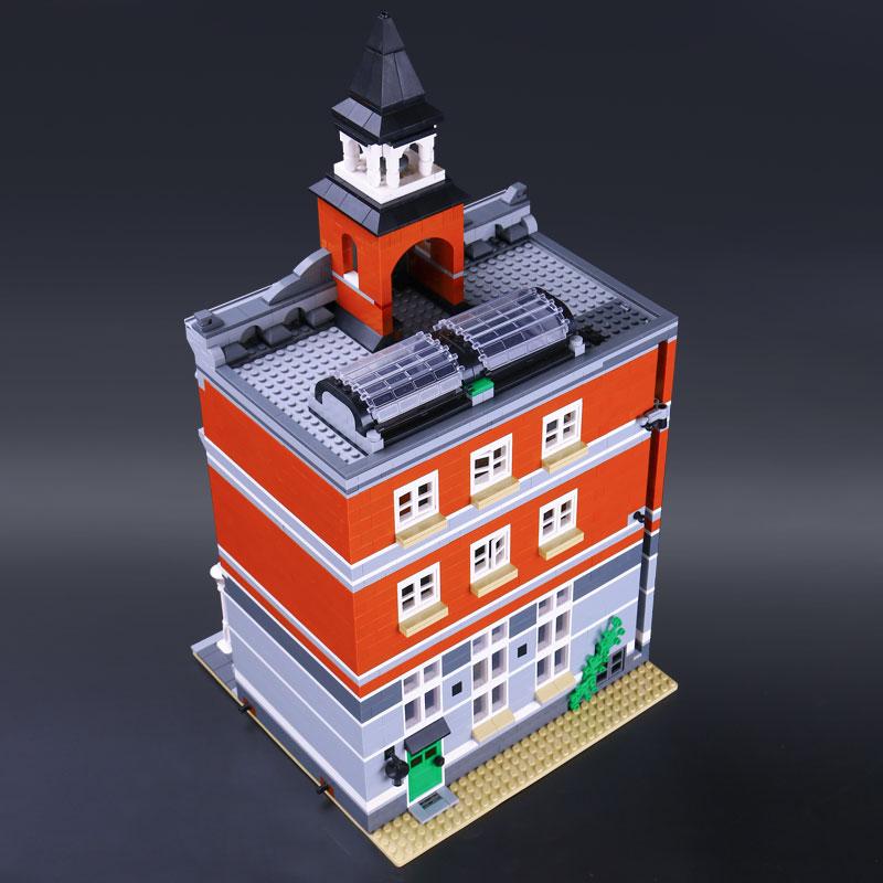 CUSTOM 15003 Building Blocks Town Hall Building Brick Sets