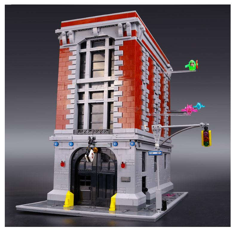 CUSTOM 16001 Building Blocks Toys Ghostbusters Firehouse Headquarters Building Brick Sets