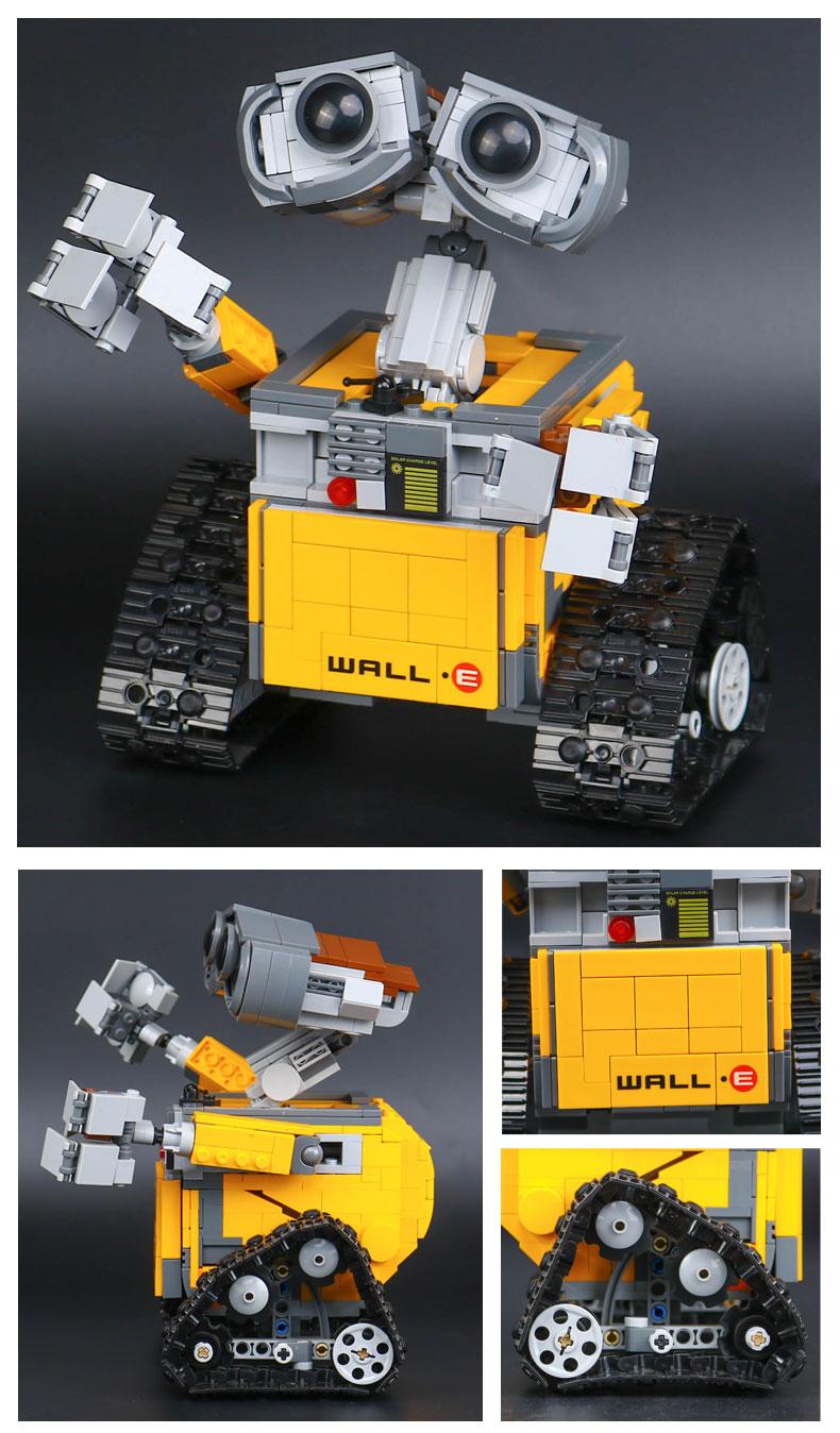 CUSTOM 16003 Building Blocks Toys Ideas WALL E Building Brick Sets