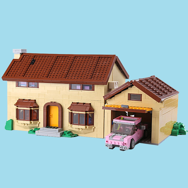 CUSTOM 16005 The Simpsons House Building Bricks Set