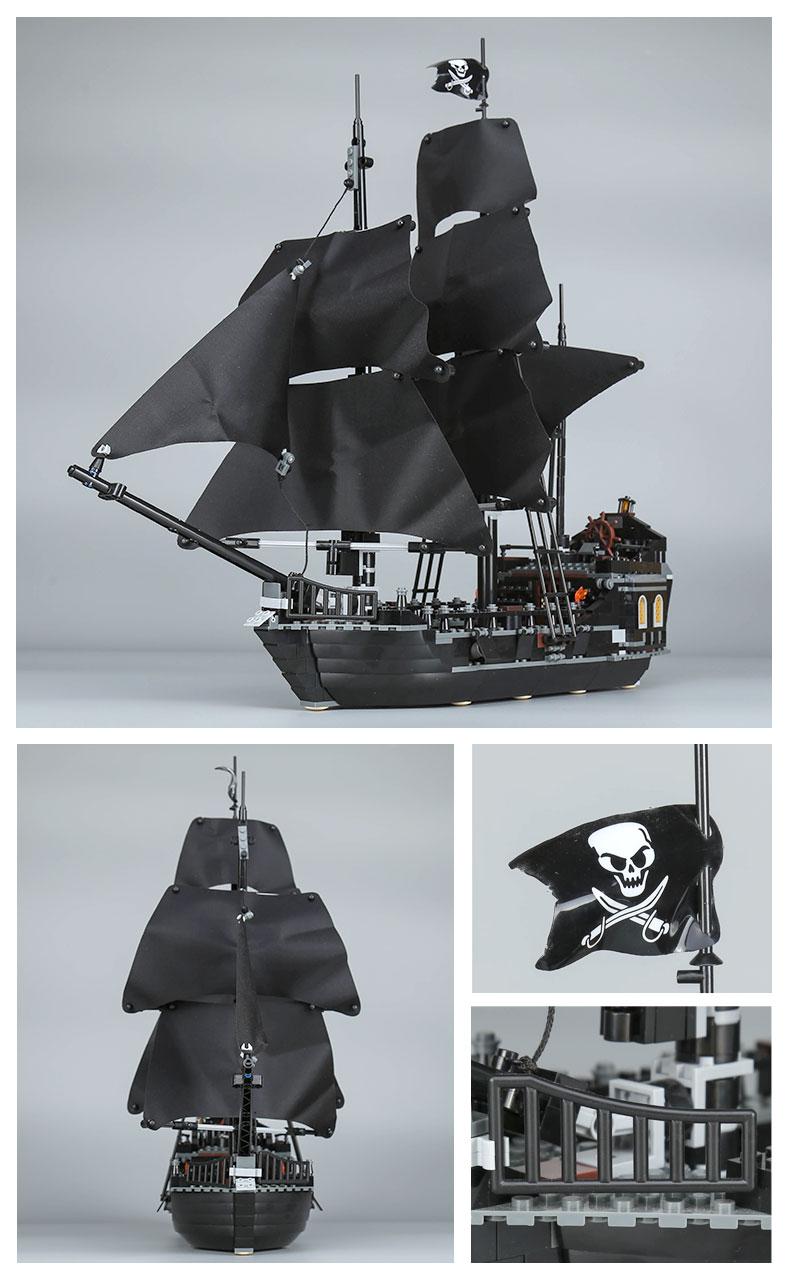 CUSTOM 16006 Building Blocks Pirates of the Caribbean The Black Pearl Building Brick Sets