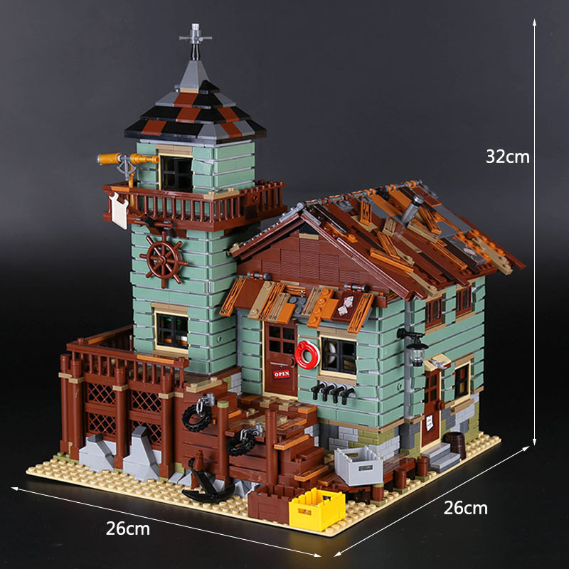 CUSTOM 16050 Building Blocks Toys Ideas Old Fishing Store Building Brick Sets