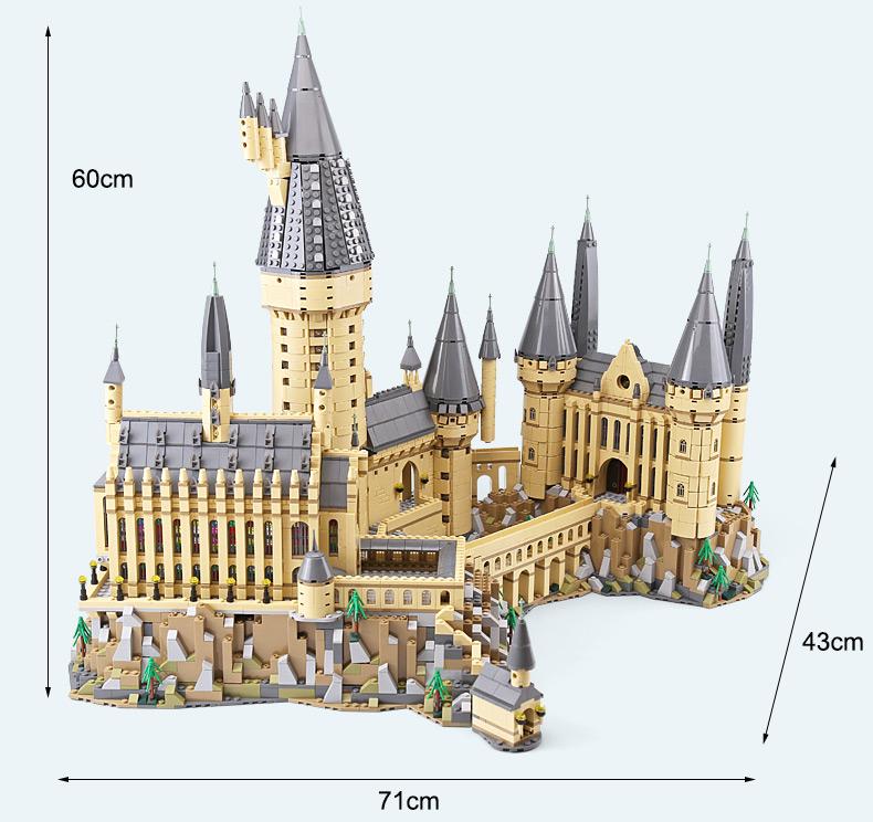 Harry potter series hogwarts castle set Building block bricks compatible 1340pc