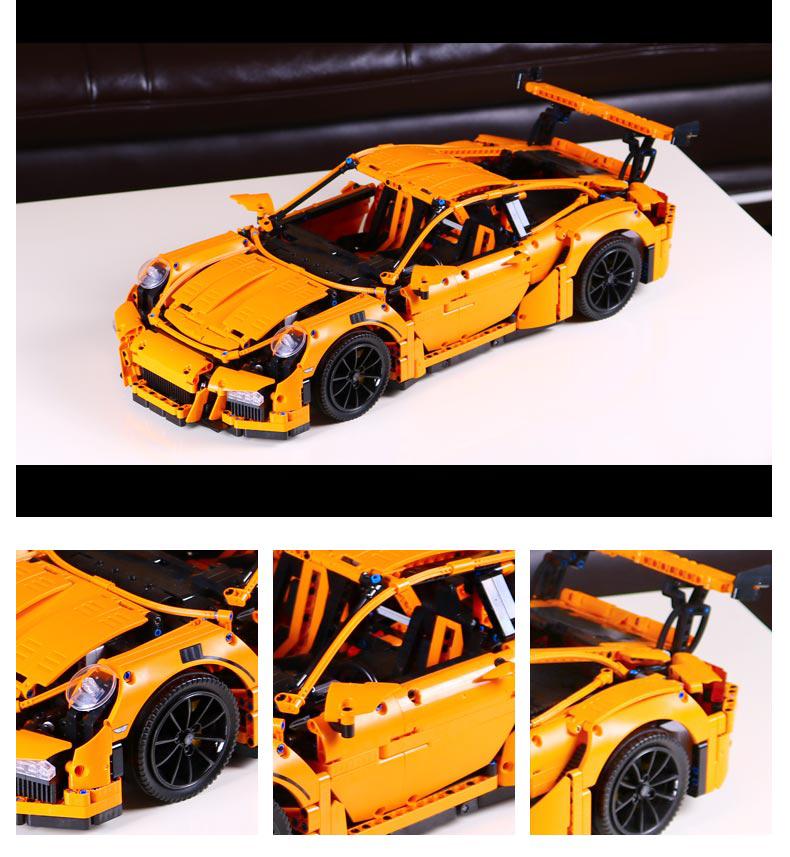 CUSTOM 20001 Building Blocks Toys Technic Porsche 911 GT3 RS Building Brick Sets