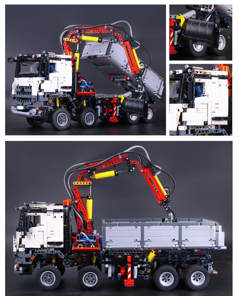 CUSTOM 20005 Building Blocks Technic Mercedes Benz Arocs Building Brick Sets
