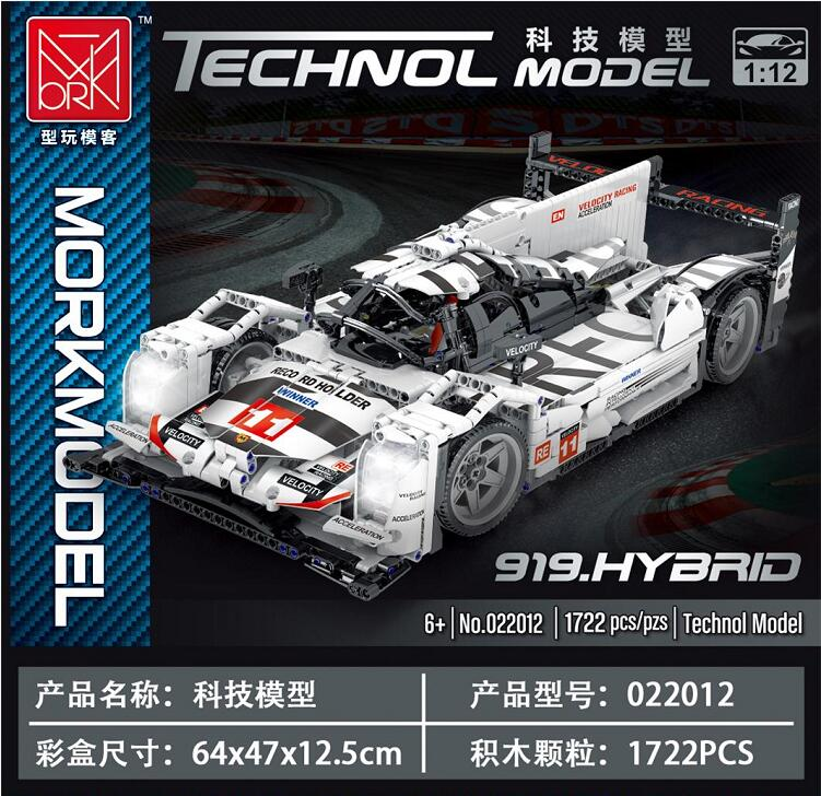 MORK 022012 Porsche 919 Model Building Bricks Toy Set