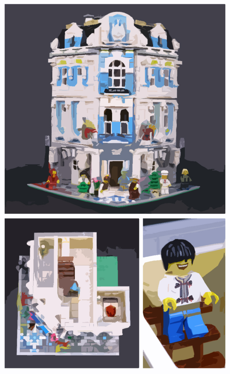 CUSTOM 15018 Building Blocks Toys MOC Creator International Sunshine Hotel Building Brick Sets