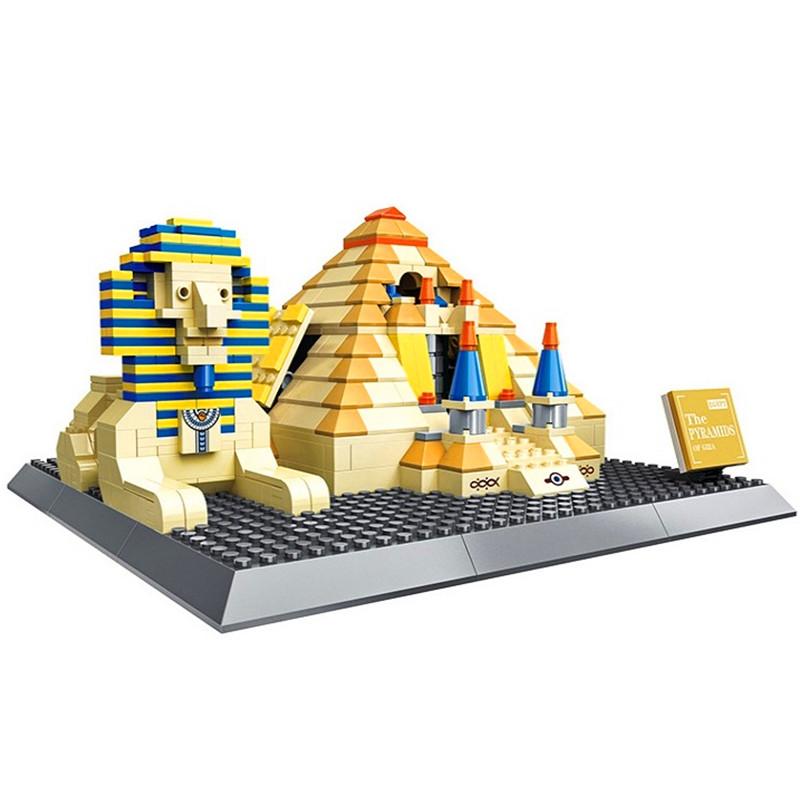 WANGE Architecture Pyramids of Giza, Egypt Building 4210 Building Blocks Toy Set