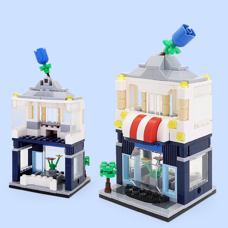 WANGE Architecture 5 modern shops 2310-2314 Building Blocks Toy Set