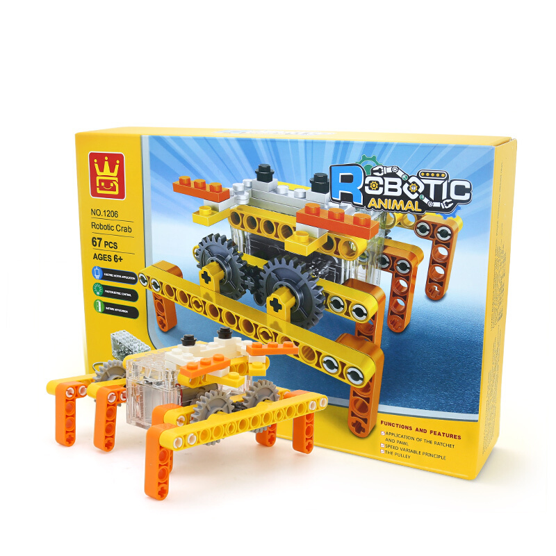 WANGE Robotic Animal Crab Animal Electric Machinery 1206 Building Blocks Toy Set