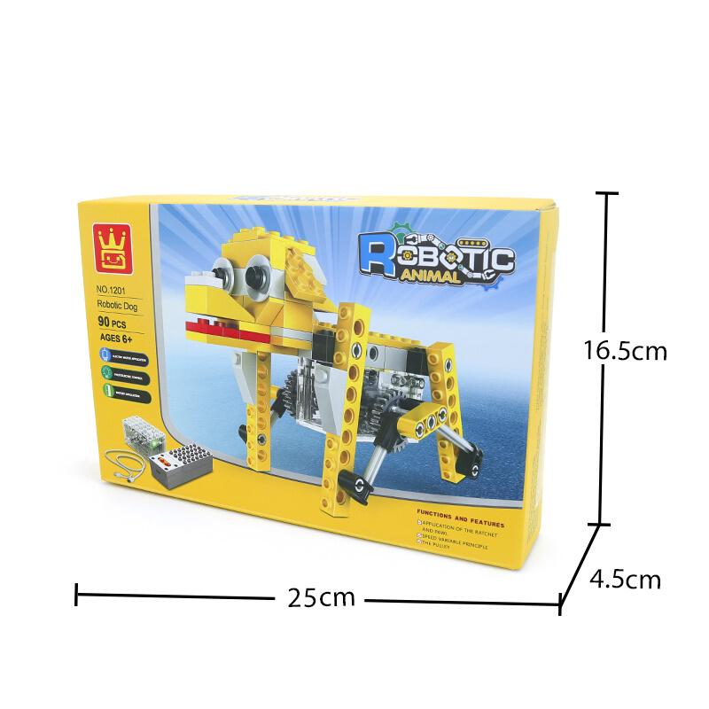 WANGE Robotic Animal Elephant Animal Electric Machinery 1202 Building Blocks Toy Set
