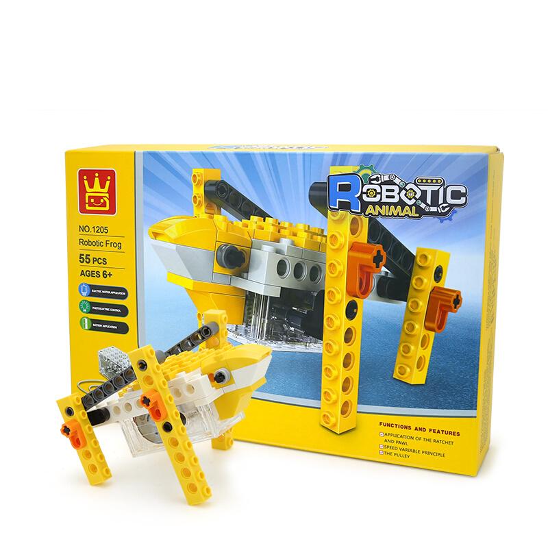 WANGE Robotic Animal Frog Animal Electric Machinery 1205 Building Blocks Toy Set