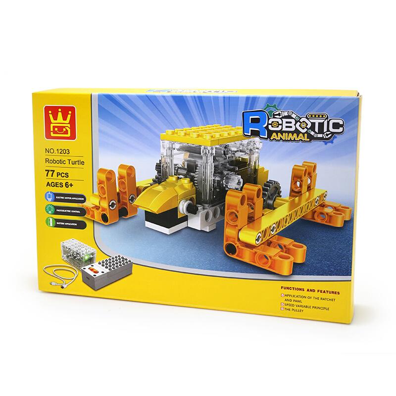 WANGE Robotic Animal Tortoise Animal Electric Machinery 1203 Building Blocks Toy Set